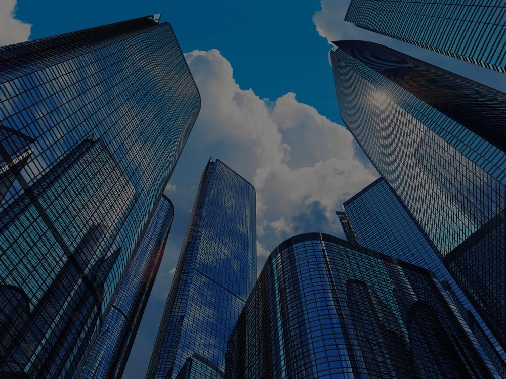 modern skyscraper city view